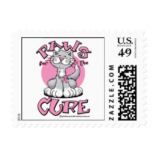 Paws-for-the-Cure-Cat Postage
