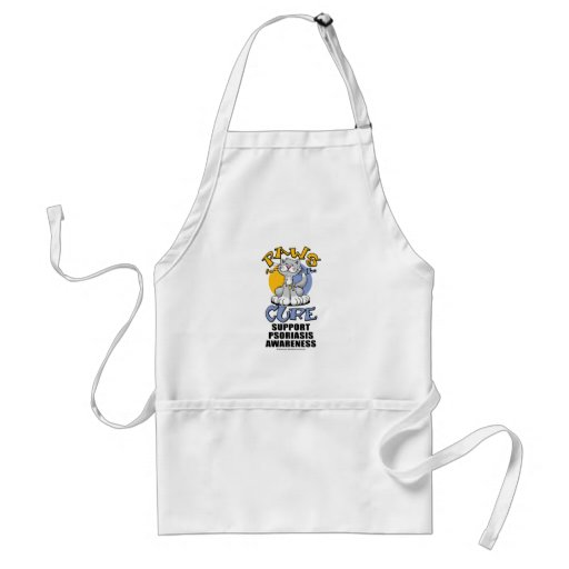 Paws for the Cure Cat Psoriasis Apron