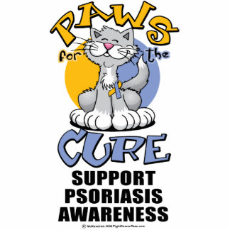 Paws for the Cure Cat Psoriasis Cutout