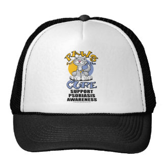 Paws for the Cure Cat Psoriasis Trucker Hat