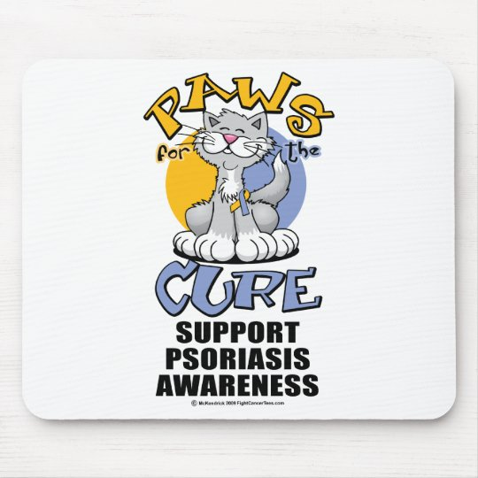 Paws for the Cure Cat Psoriasis Mouse Pad