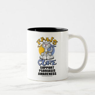 Paws for the Cure Cat Psoriasis Two-Tone Coffee Mug
