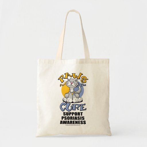 Paws for the Cure Cat Psoriasis Tote Bag