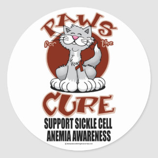 Paws for the Cure Cat SCA Classic Round Sticker
