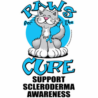 Paws for the Cure Cat Scleroderma Statuette