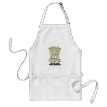 Paws for the Cure Cat Spina Bifida Adult Apron