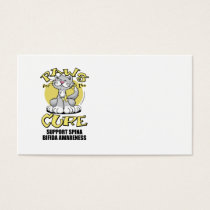 Paws for the Cure Cat Spina Bifida Business Card