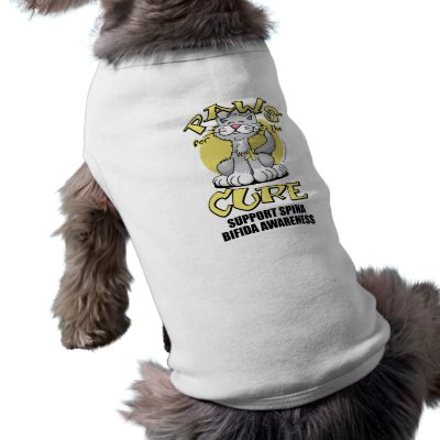 Paws for the Cure Cat Spina Bifida Pet T Shirt by fightcancertees