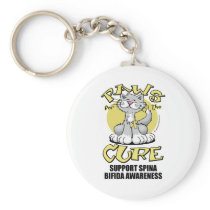 Paws for the Cure Cat Spina Bifida Keychain