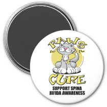 Paws for the Cure Cat Spina Bifida Magnet
