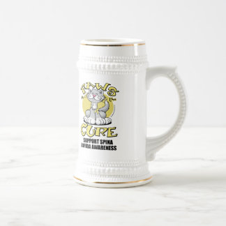 Paws for the Cure Cat Spina Bifida Coffee Mugs
