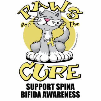 Paws for the Cure Cat Spina Bifida Cut Out
