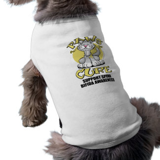 Paws for the Cure Cat Spina Bifida Shirt