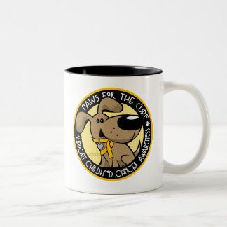 Paws for the Cure Childhood Cancer Two-Tone Coffee Mug