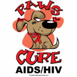 Paws for the Cure Dog AIDS Acrylic Cut Out