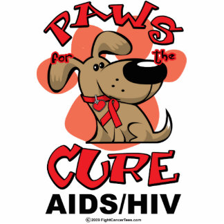 Paws for the Cure Dog AIDS Cutout