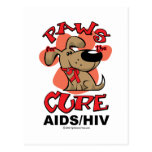 Paws for the Cure Dog AIDS Post Card
