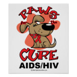 Paws for the Cure Dog AIDS Print