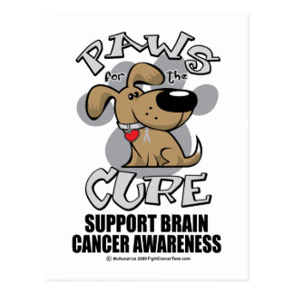 Paws for the Cure Dog Brain Cancer Postcards