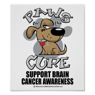 Paws for the Cure Dog Brain Cancer Poster