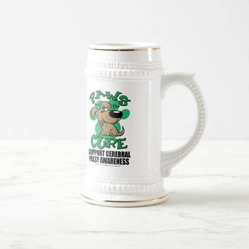 Paws for the Cure Dog Cerebral Palsy 18 Oz Beer Stein