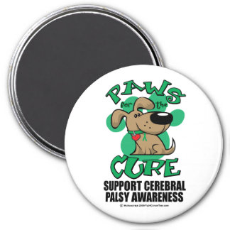 Paws for the Cure Dog Cerebral Palsy 3 Inch Round Magnet