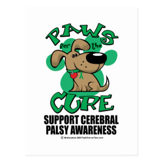 Paws for the Cure Dog Cerebral Palsy Postcard