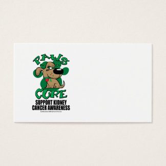 Paws for the Cure Dog Kidney Cancer Business Card