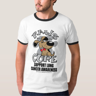Paws for the Cure Dog Lung Cancer T-Shirt