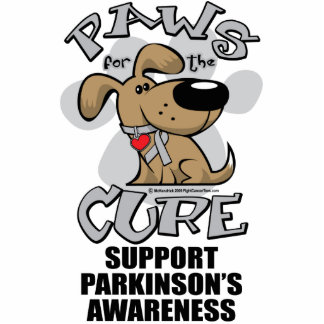 Paws for the Cure Dog Parkinson's Disease Acrylic Cut Out