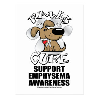 Paws for the Cure Emphysema Postcard