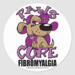 Paws for the Cure Fibromyalgia Stickers