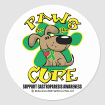 Paws for the Cure Gastroparesis Classic Round Sticker