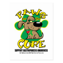 Paws for the Cure Gastroparesis Postcard