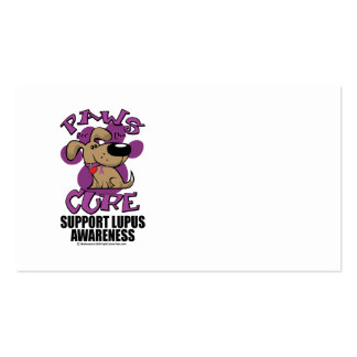 Paws for the Cure Lupus Business Card Templates