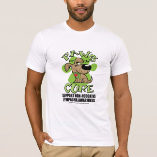 Paws for the Cure Non-Hodgkins Lymphoma T-Shirt