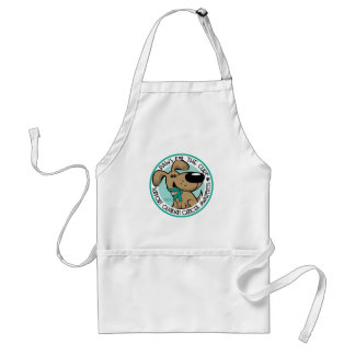 Paws for the Cure Ovarian Adult Apron