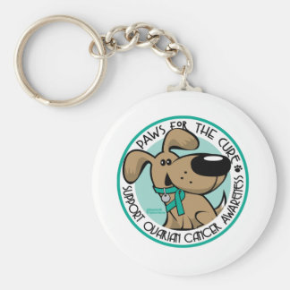 Paws for the Cure Ovarian Keychain