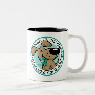 Paws for the Cure Ovarian Two-Tone Coffee Mug