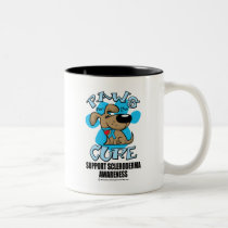 Paws for the Cure Scleroderma Two-Tone Coffee Mug
