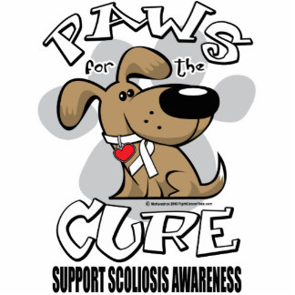 Paws for the Cure Scoliosis Acrylic Cut Outs
