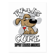 Paws for the Cure Scoliosis Postcard