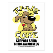 Paws for the Cure Spina Bifida Postcard