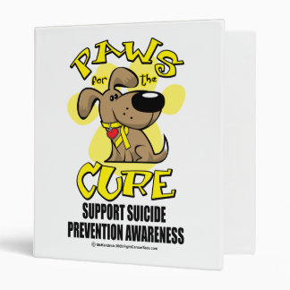 Paws for the Cure Suicide Prevention 2 Vinyl Binders