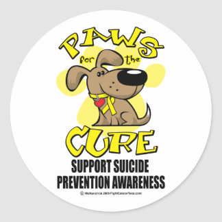 Paws for the Cure Suicide Prevention 2 Classic Round Sticker