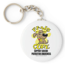 Paws for the Cure Suicide Prevention 2 Keychain
