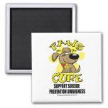 Paws for the Cure Suicide Prevention 2 Fridge Magnet