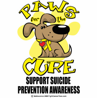 Paws for the Cure Suicide Prevention 2 Acrylic Cut Out