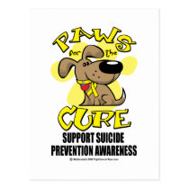 Paws for the Cure Suicide Prevention 2 Postcard