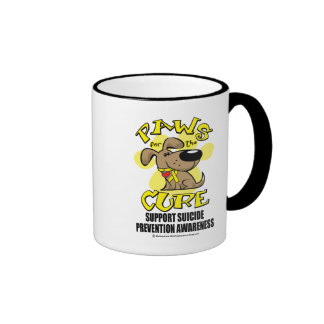 Paws for the Cure Suicide Prevention 2 Ringer Mug